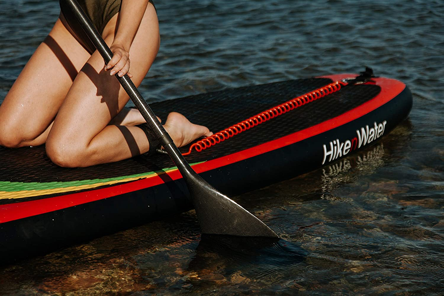 iRide Carbon Paddle for SUP 100 Full Carbon Fiber Shaft Blade Ultralight Oar 19 OZ 3-Piece Adjustable for Isup Stand Up Paddleboard Carrying Case Dry Bag for Free Fast Delivery