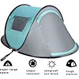 2 Person Instant Automatic Pop Up Cabin Tent Water Rain Proof by VITCHELO - Ultralight Quick Easy Set Up Dome Tents with 2 Doors Windows Mosquito Netting for Kids Adults at Outdoor Camping Backpacking