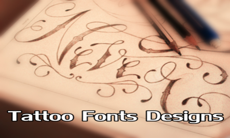 Tattoo Fonts Designs Amazon Es Appstore Para Android