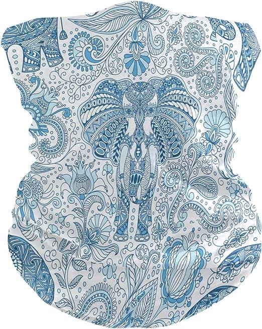 Sawhonn Elefante Indio Arte /Étnico Pa/ñuelo/Polaina Mascara Facial Bandana Cintas de Pelo Pasamonta/ñas Diademas Headwraps Bufanda para Deportes Mujeres Hombres