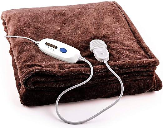 MovilCom® - Manta eléctrica, 150 x 90 cm, 100W, 3 Temperaturas ...