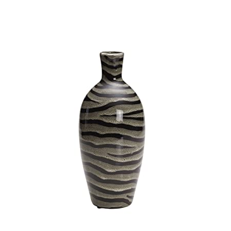 Bombay Zebra Print Ceramic Vase 12 Inch Amazon Kitchen Home