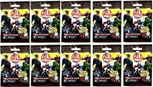 Dice Masters 10 (Ten) Boosters Packs of Marvel Avengers Age of Ultron Dice Building Game (10 Random Booster Packs)