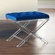 Armen Living LCCOOTBLUE Cody Ottoman, Blue
