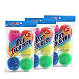 18 Round Nylon Dish Scrubber Scouring Pads by