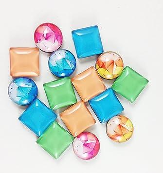 24-Pack cristal imanes, imanes para nevera, Imanes de nevera ...