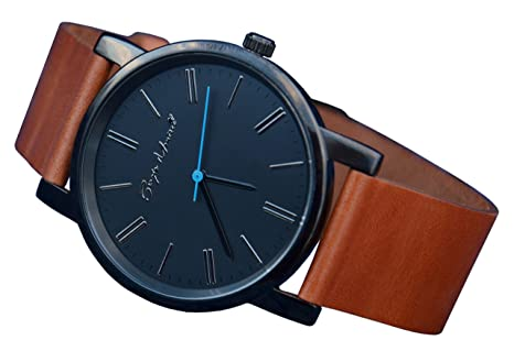 leather made indicator power gents watch swiss watches moon phase strap mechanical reserve
