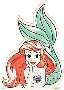 Open Road Brands Disney Princess The Little Mermaid Ariel - Chunky Wood Block Decor for Kids' Room, Play Room, Bedroom, or Movie Room