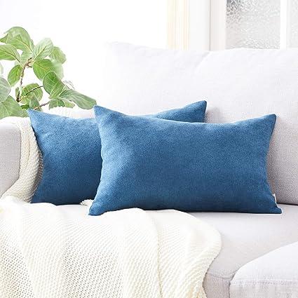 Topfinel juego 2 Fundas cojines sofas de Algodón Lino duradero Almohadas Decorativa de color sólido Para Sala de Estar, sofás, camas, sillas ...
