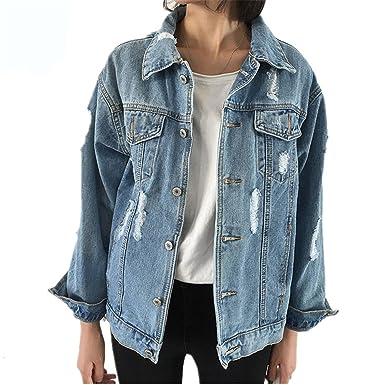Dapengzhu Jeans Jacket Women Casacos Feminino Slim Ripped ...