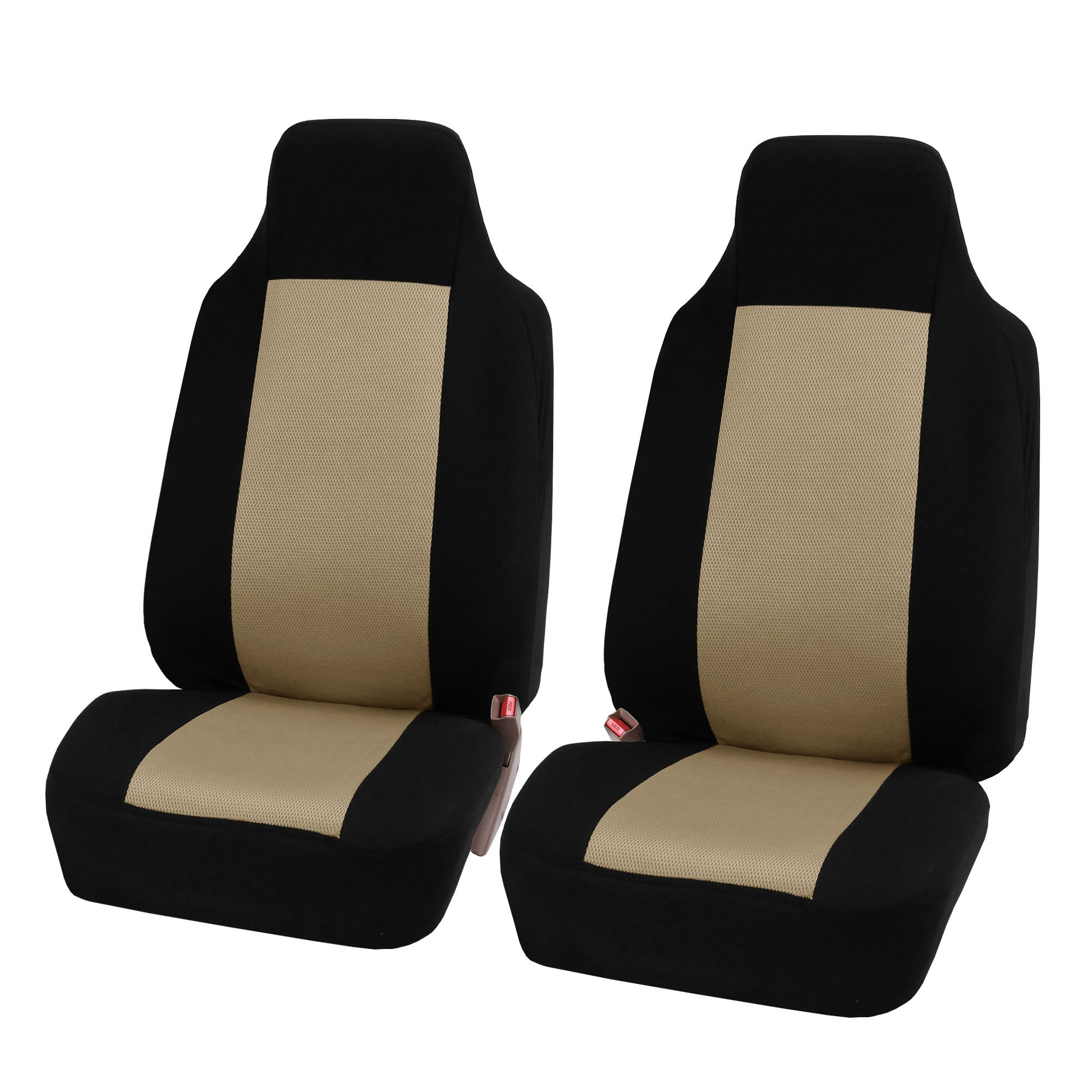fh group fh fb102114 full set classic cloth car seat covers with fh group fh1133 e z travel car. Black Bedroom Furniture Sets. Home Design Ideas