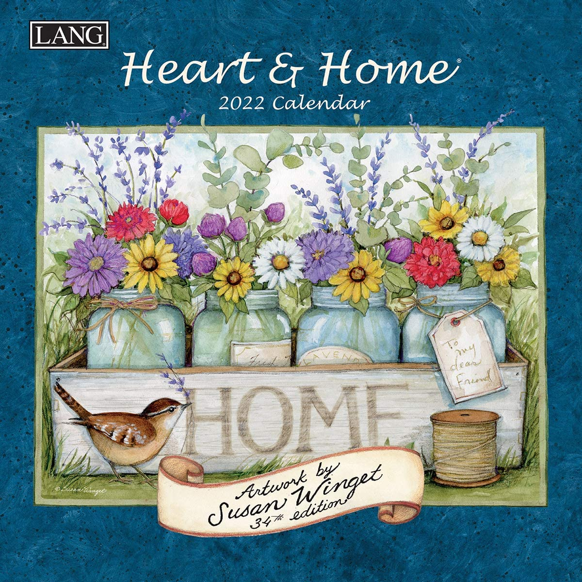 Lang Heart & Home 2022 Mini Wall Calendar (22991079242)