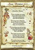 Richtfest Geschenk zum Richtfest Hauseinweihung Urkunde mit Richtspruch