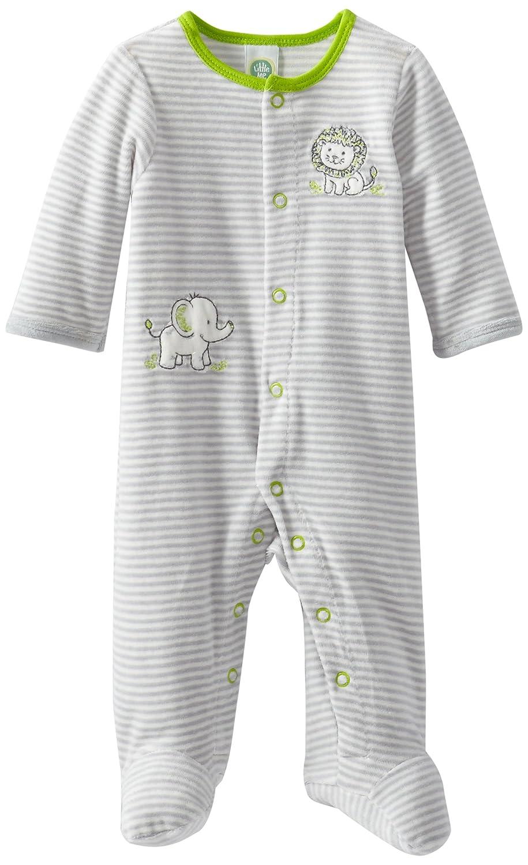 Little Me Baby-Boys Newborn Safari Stripe Velour Footie