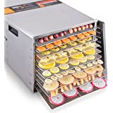Costzon Professional Food Dehydrator, Commercial Stainless Steel Food Fruits Preserver With 10 Drying Trays