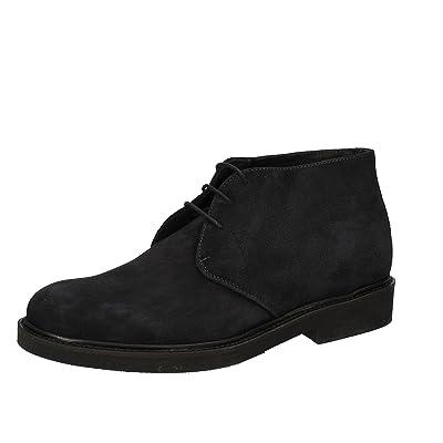MARECHIARO Men Oxford Shoe / Elegant Suede (12 US / 45 EU, Blue)