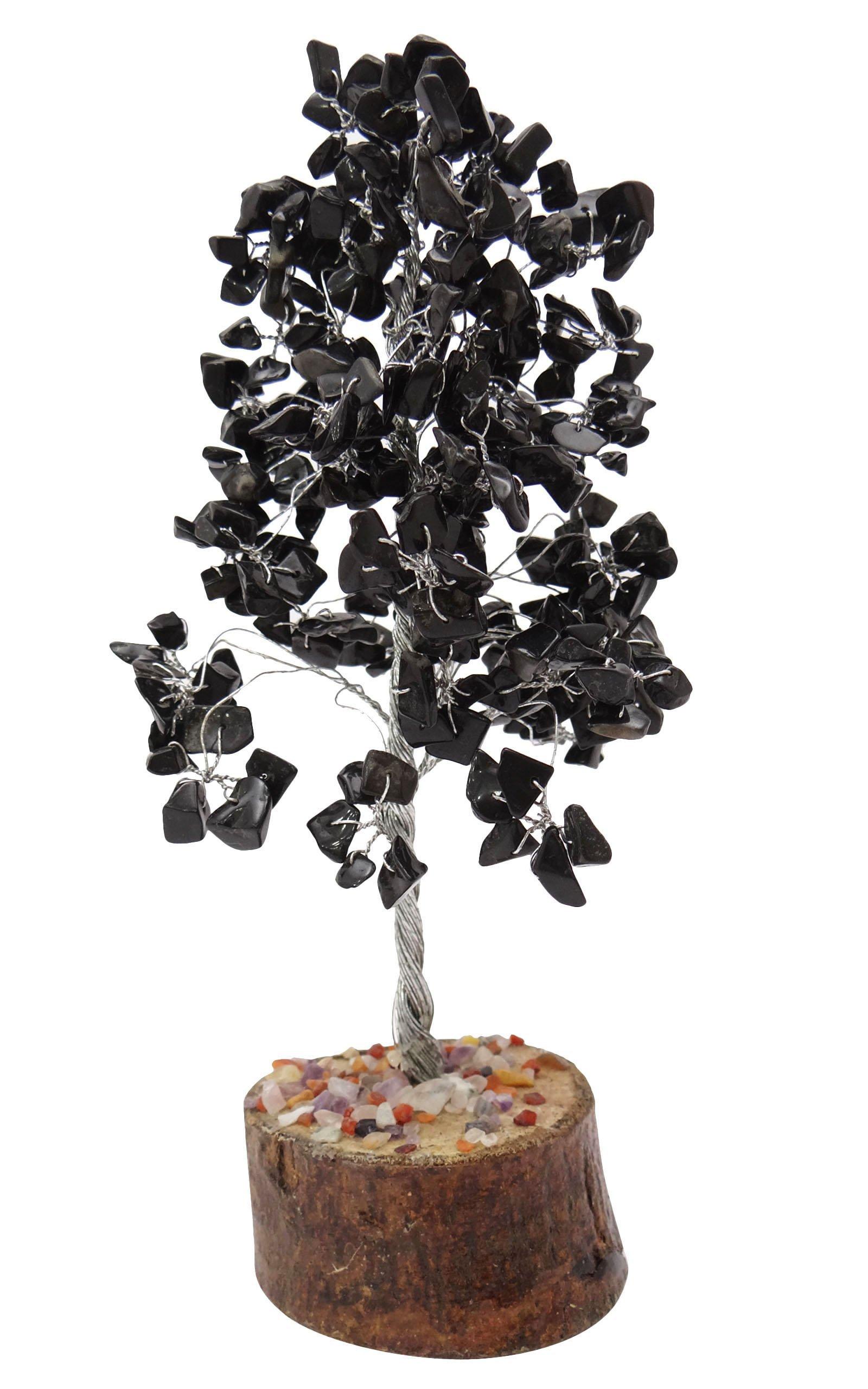 HARMONIZE Tourmaline Tree Spiritual Feng Shui Reiki Healing Stone Table Decor