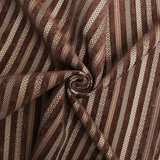 Cojín de sofá de rayas de chenilla tela de tapicería de ...