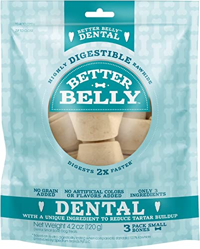 Better Belly Dental Small Bones Highly Digestible Rawhide