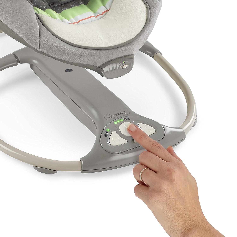 mit Vibrationen zusammenklappbar mehr als 8 Melodien und Lautst/ärkeregler Moreland 2 in 1 Babyschaukel und -sitz 5 Schaukelgeschwindigkeiten Ingenuity