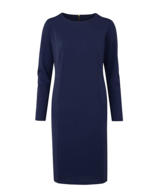 Womens Ponte Pocket Shift Dress