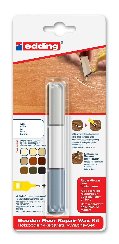 Edding 9031049 Cire de restauration pour Plancher en bois Kit 8902 4-8902-1-4049 Cire de réparation