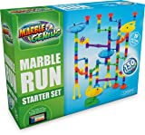 Marble Genius Marble Run Starter Set - 130 Complete Pieces + Free Instruction App