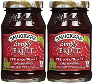 Smucker's Simply Fruit Raspberry Spread, 10 oz, 2 pk