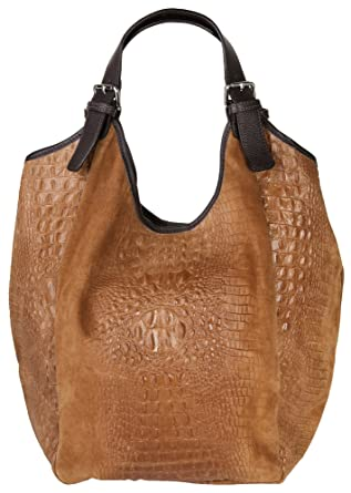 ee42e09715d4f Samantha Look Shopper Echt Leder cognac Damen - 016650  Amazon.de ...