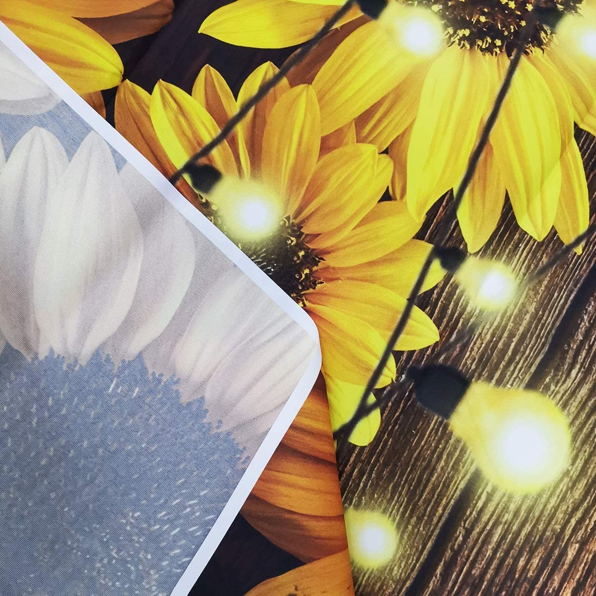 Yellow Flower 8x10 FT Photo Backdrops,Hand Drawn Style Sunflowers on Twigs Petals Growth Botany Summertime Background for Baby Shower Birthday Wedding Bridal Shower Party Decoration Photo Studio