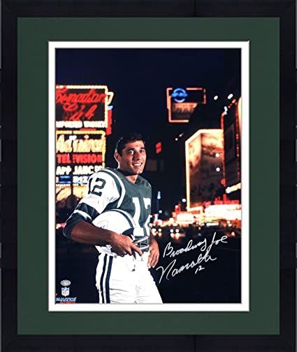 Framed Joe Namath New York Jets Autographed 16 quot  x 20 quot  Broadway  Photograph with Broadway 84946855a