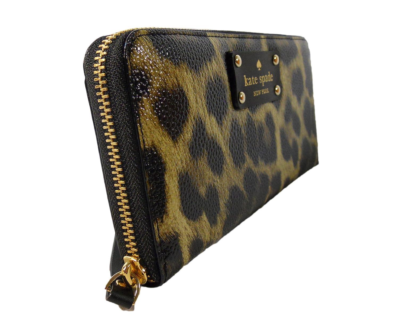 5d90b4064f9c Amazon.com: Kate Spade Leopard Print Grainy Vinyl Neda Clutch Wallet: Shoes