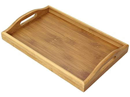 bamboo bathroom tray 35 x 23 cm solid wood bathroom accessories - Bathroom Tray