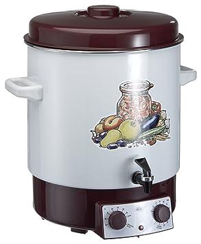 ABC A685.117 - Esterilizador (con grifo, termostato y minutero), color marrón: Amazon.es: Hogar