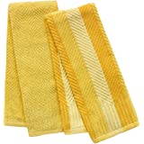 Food Network™ 2 Pack Sculpted Antimicrobial Kitchen Towels (Yellow)