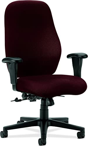 HON High-Back Task Chair with Arms, 30-1 2 by 39 by 45-Inch, Wine