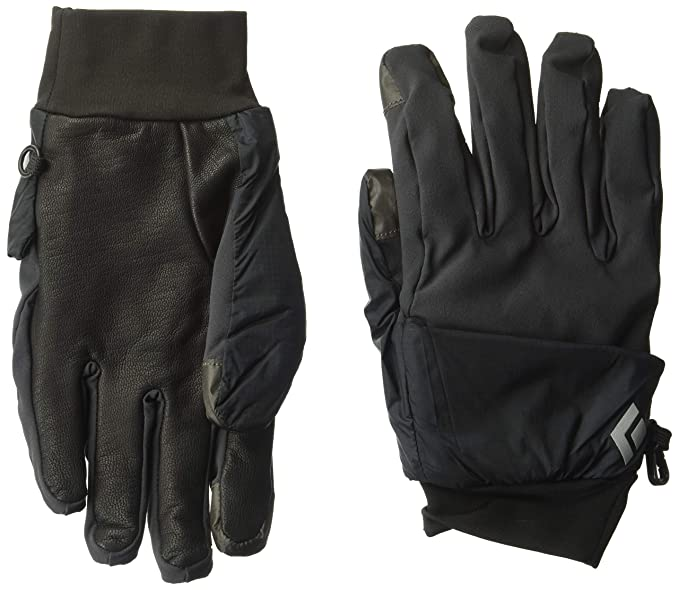 b8b9e3592 Black Diamond BD801096SMOKSM_1 Wind Hood Softshell Gloves, Smoke, Small