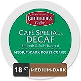 Community Coffee Café Specific 低因中度深度烘焙咖啡胶囊 18个 兼容Keurig 2.0 K Cup 中度浓郁润滑口味,纯阿拉比卡咖啡豆