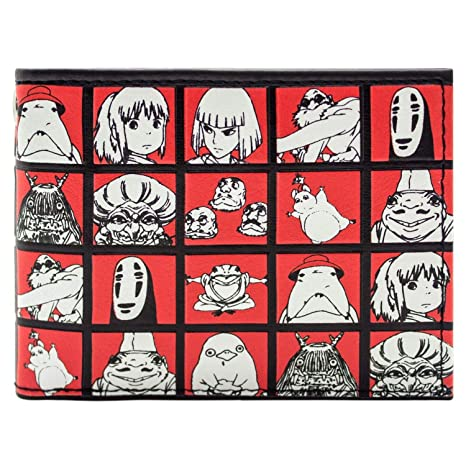 Cartera de Studio Ghibli A cuadros Multicolor: Amazon.es ...