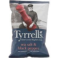 Tyrrell's Sea Salt and Cracked Black Pepper Potato Chips, 40g
