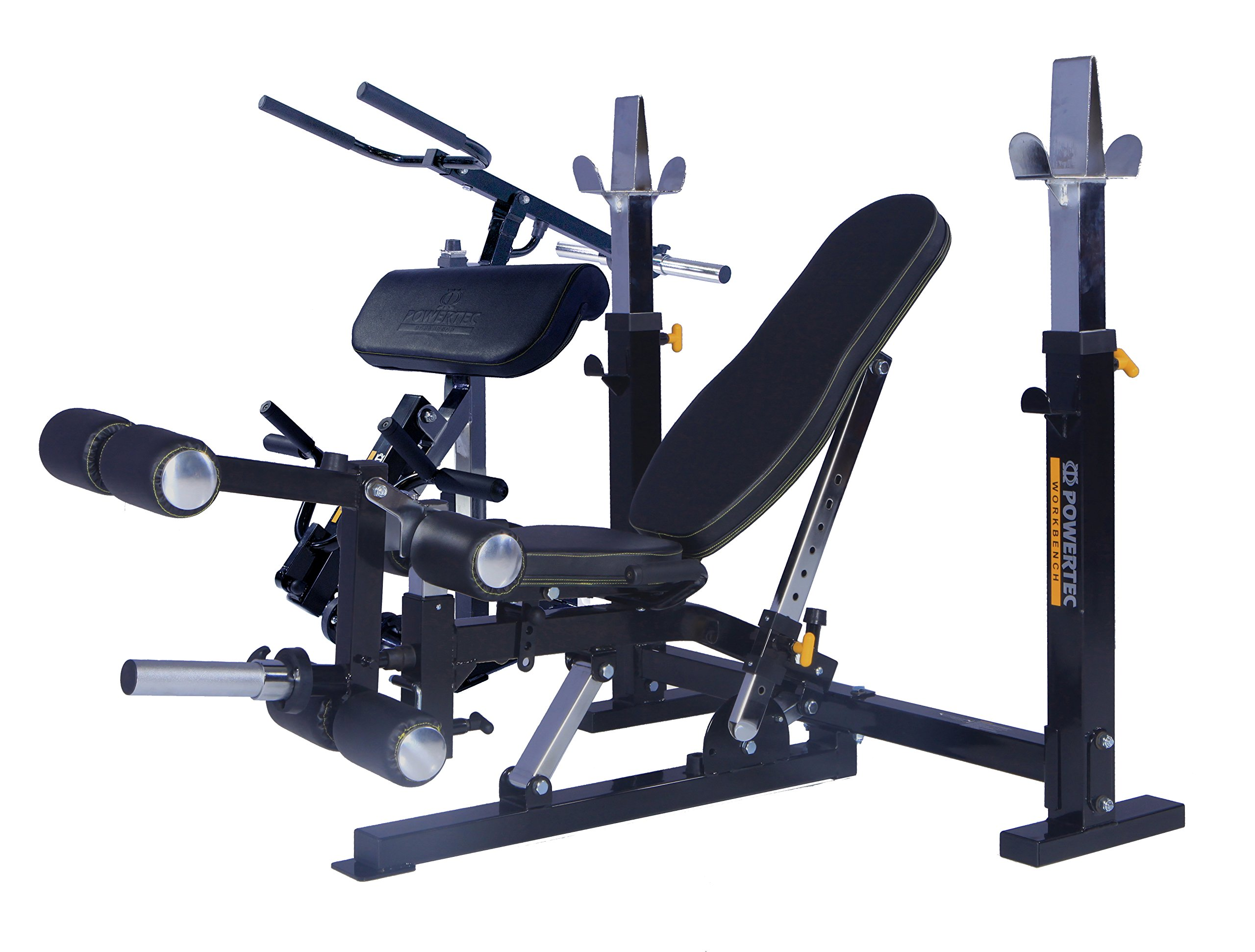 Powertec Workbench Olympic Bench (WB-OB15) + Leg Lift(WB-LLA16) + Dip Machine (WB-DMA16) + Curl Machine (WB-CMA16) by Powertec Fitness