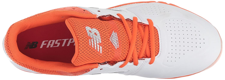 New Balance Women's Velo V1 Metal Softball Shoe B075R3M429 9 B(M) US|Orange/White