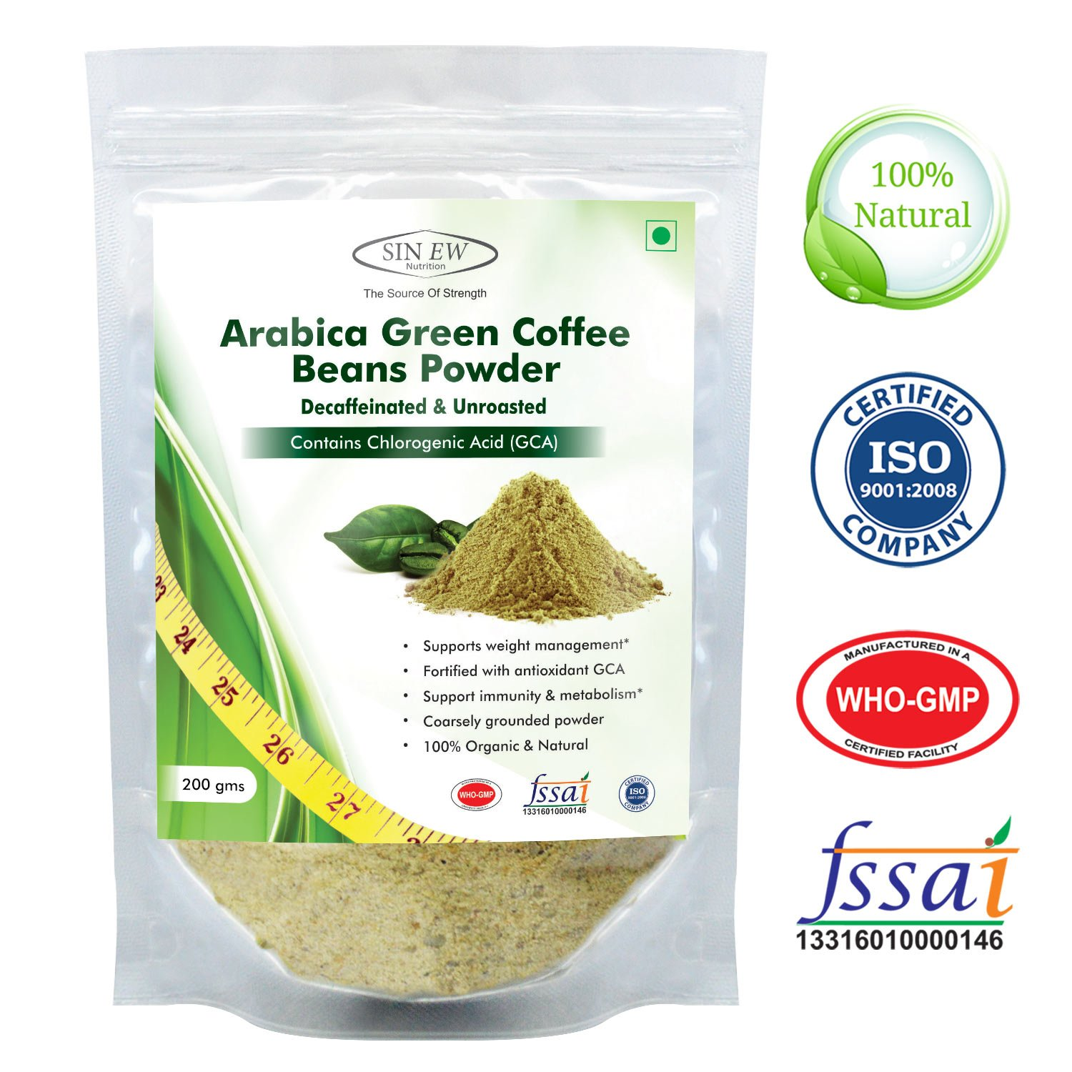 Sinew Nutrition Green Coffee Beans Powder For Weight