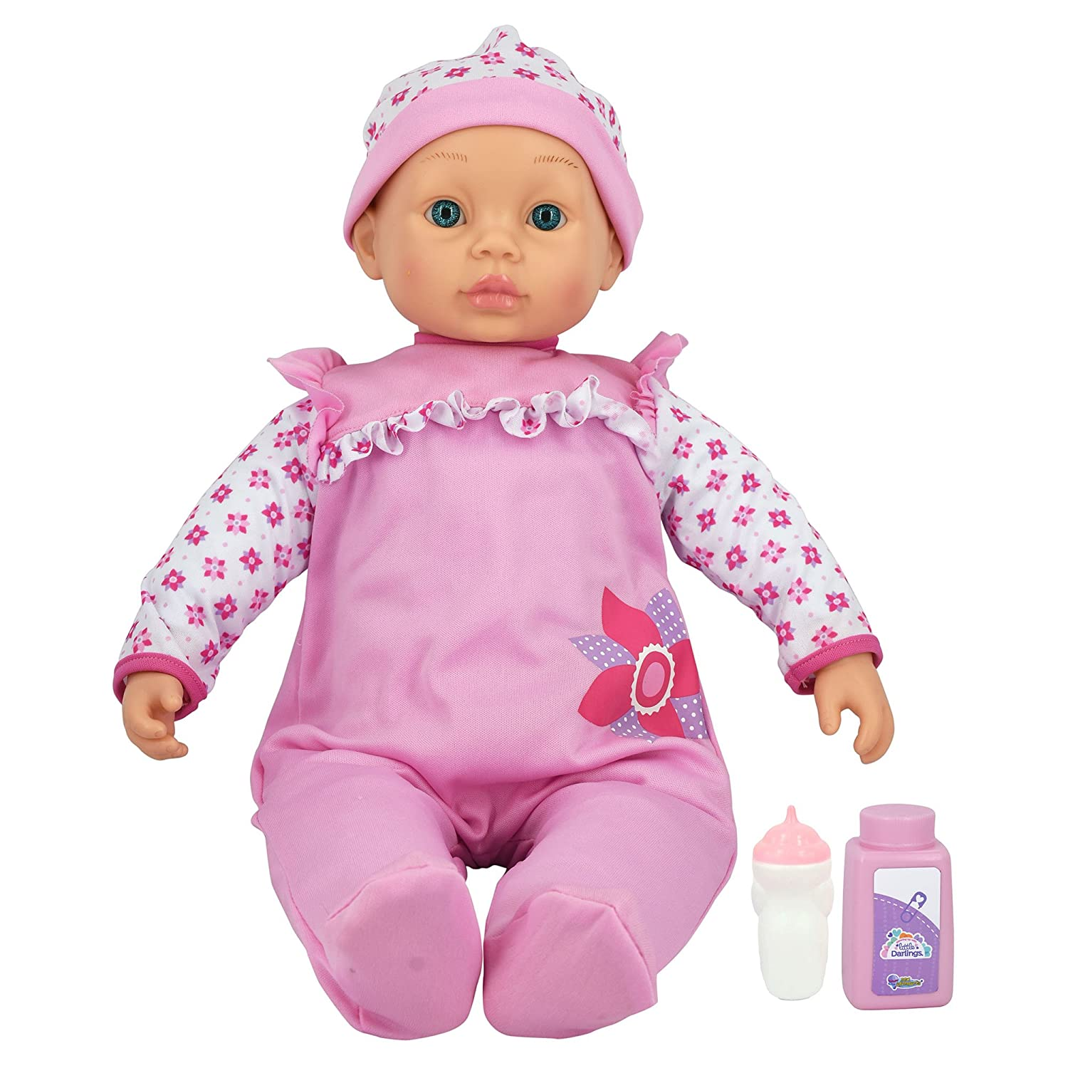 New Adventures LLC 3010-Pink Little Darlings-48cm Cuddle Baby with Accessories, Pink   B07F4GQKB2