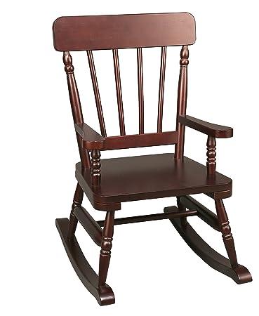Charming Emerson Espresso Rocking Chair