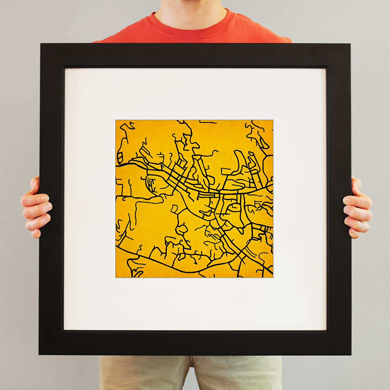 Amazon Com City Prints Appalachian State University Campus Map Art 23 Frame Mat Posters Prints