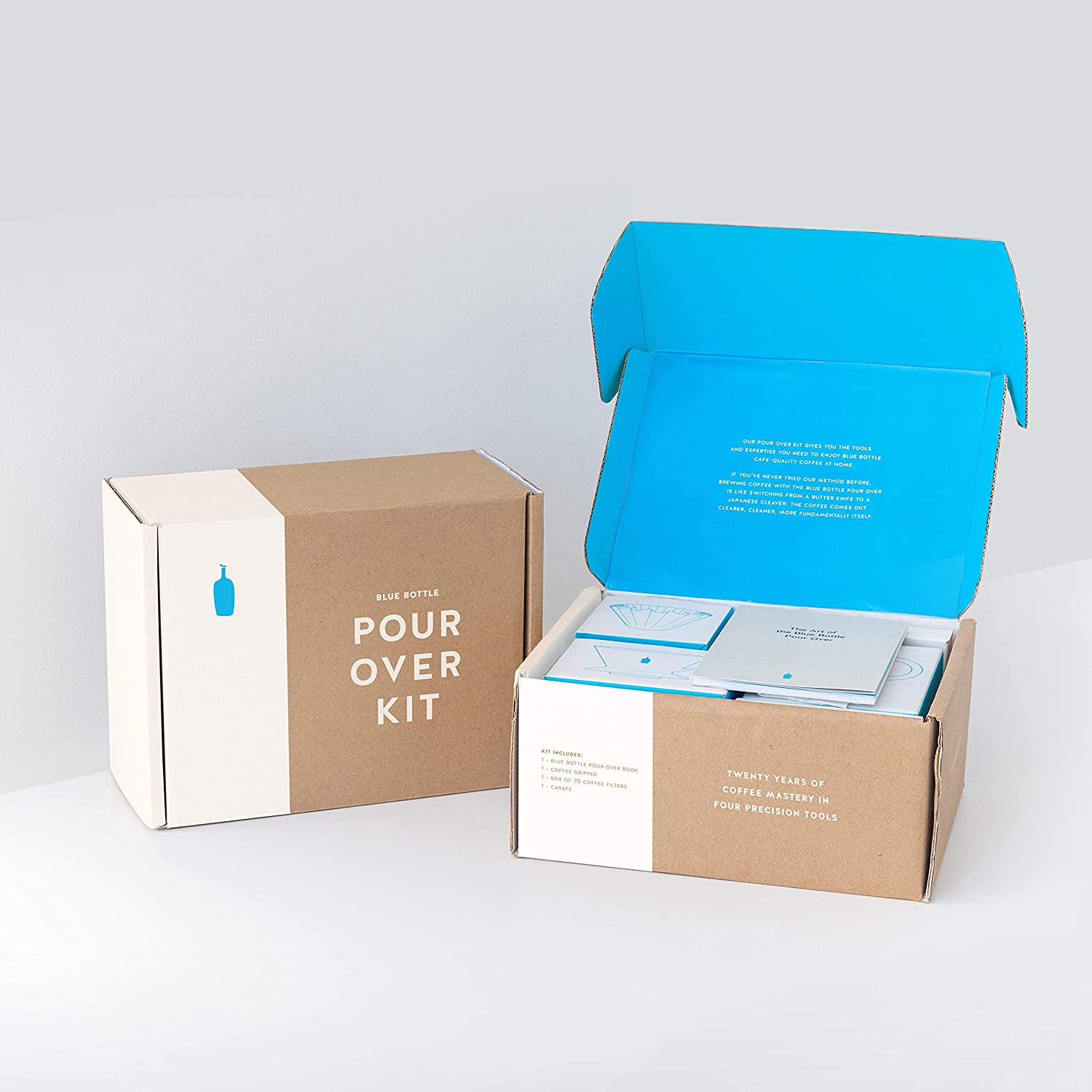 Blue Bottle Pour Over Kit With Coffee Dripper And Filters Carafe And How To Make A Pour Over Guide Grocery Gourmet Food