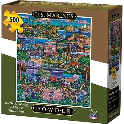 Dowdle Jigsaw Puzzle - U.S. Marines - 500 Piece: Toys & Games