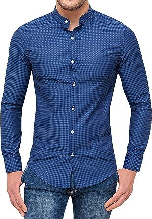 Camisa de Hombre Elegante Micro fantasía de algodón: Amazon.es: Ropa y accesorios