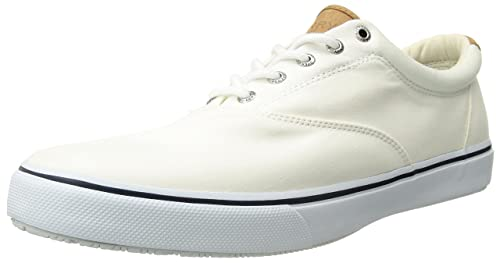 Sperry Top-Sider Men's Salt Washed Striper LL CVO Laceless,White,7.5 M